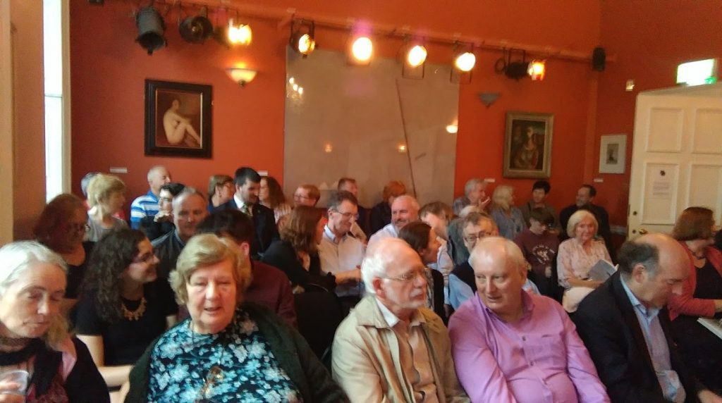 A full house at the Irish Writers' Centre for the launch of Ross's book