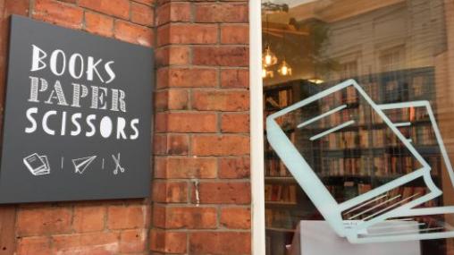 Shop Front of Books Paper Scissors bookstore , Belfast