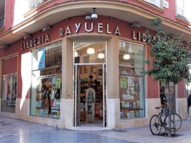 Shop front of Librería Rayuela in Málaga, Spain