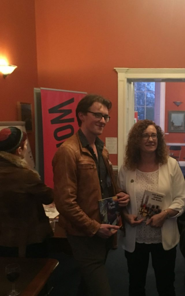 Diarmuid and Eithne at the launch of Earth Music and Sad Havoc