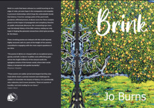 Cover of Brink poetry book by Jo Burns front and back